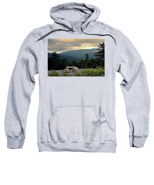 Moosilaukee View From Bench On Blueberry Mt. Sweatshirt