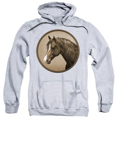 Morgan Horse Phone Case In Sepia Sweatshirt