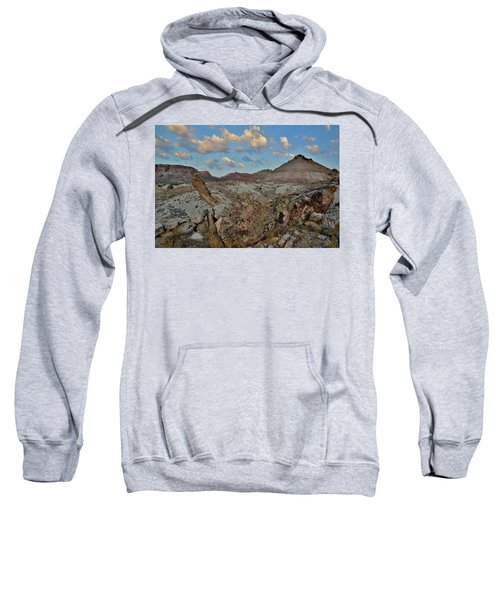 Morning Clouds Over Red Rock Valley Sweatshirt