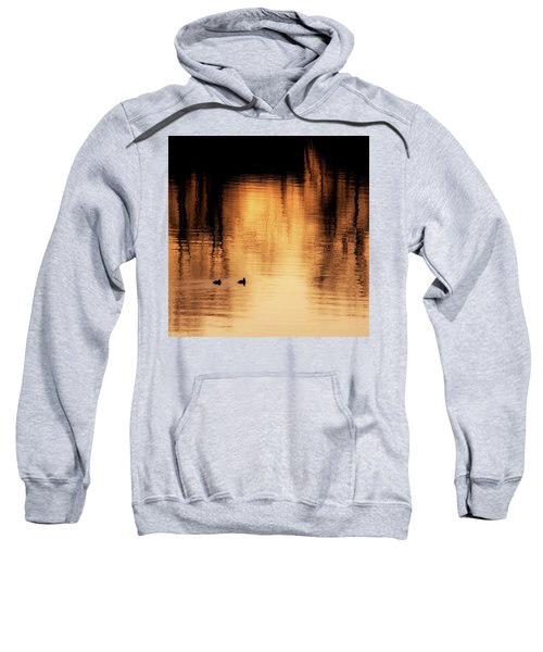 Sweatshirt featuring the photograph Morning Ducks 2017 Square by Bill Wakeley
