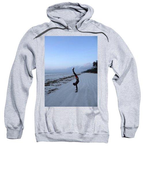 Morning Exercise On The Beach Sweatshirt