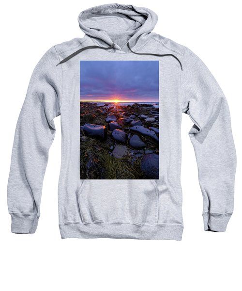 Morning Fire, Sunrise On The New Hampshire Seacoast  Sweatshirt