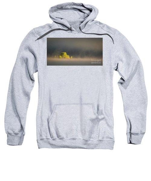 Morning Fog On Jackson Lake Grand Teton National Park  Sweatshirt