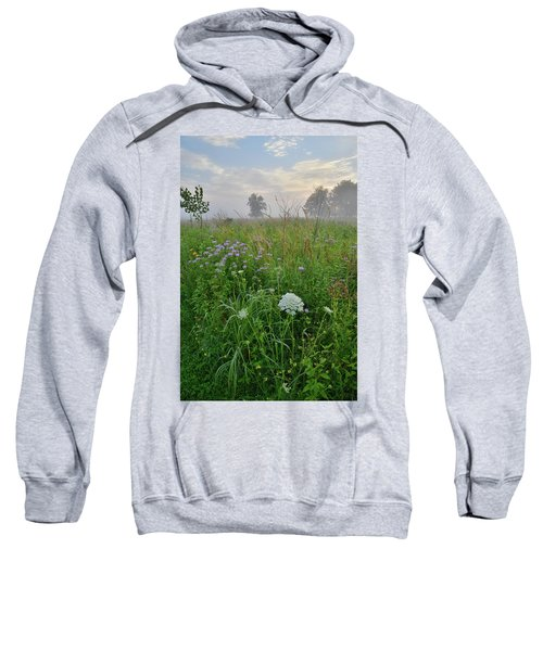 Morning Fog Over Glacial Park Prairie Sweatshirt