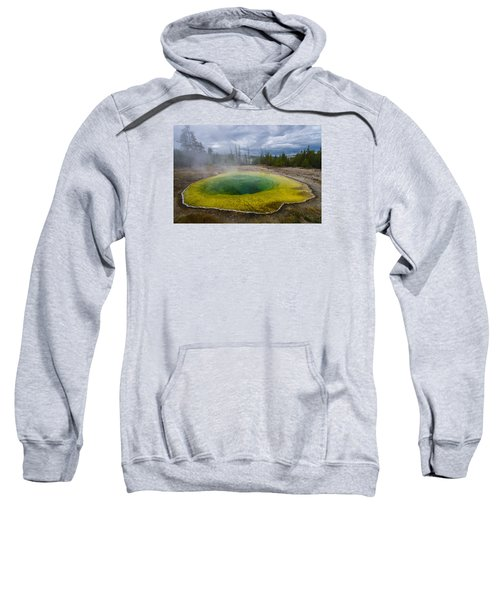 Sweatshirt featuring the photograph Morning Glory Pool by Gary Lengyel