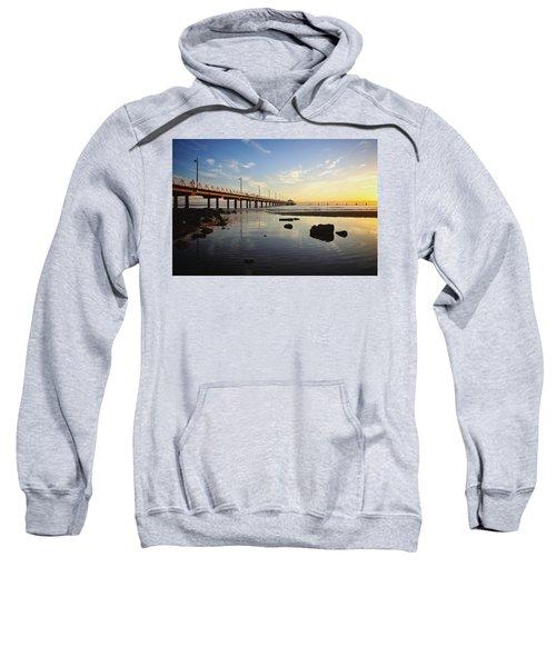 Morning Light Down By The Pier Sweatshirt