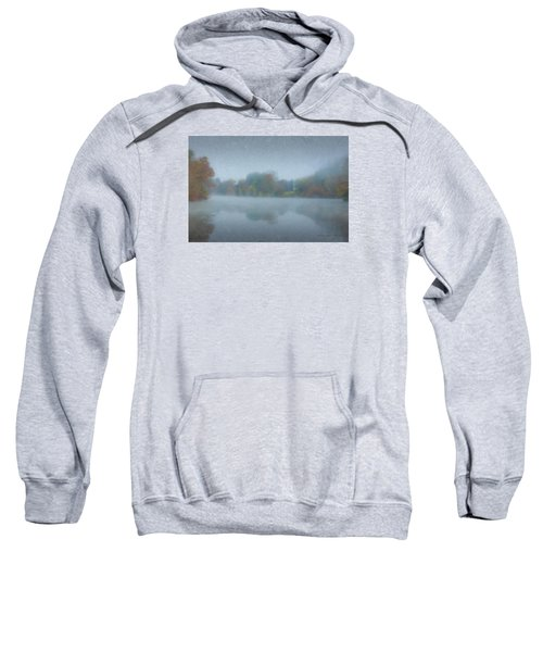 Morning Mist On Langwater Pond Sweatshirt