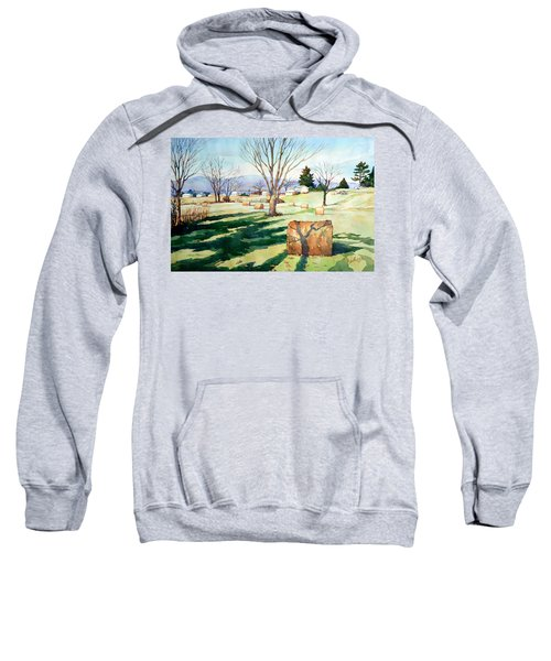 Morning Sun On Haybales Sweatshirt