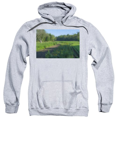Morning Walk At Langwater Farm Sweatshirt