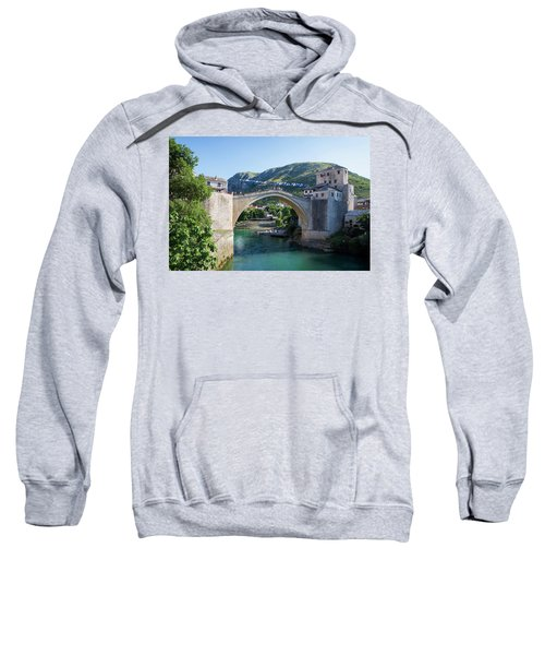 Mostar, Bosnia And Herzegovina. The Old Bridge. Sweatshirt