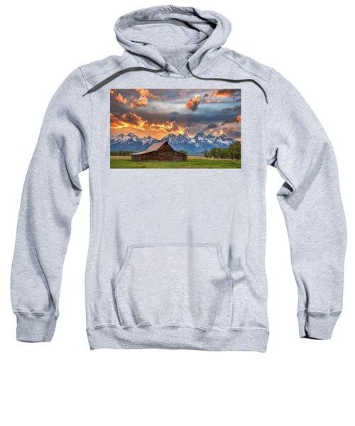 Moulton Barn Sunset Fire Sweatshirt