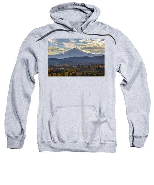 Mount Hood Over Hood River Valley In Fall Sweatshirt