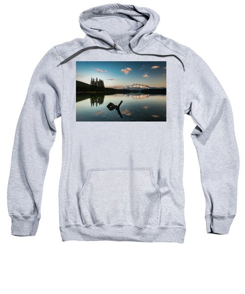 Mount Rundle And Two Jack Lake Sweatshirt