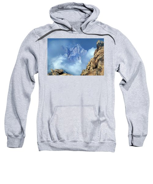 Mount Whitney Clearing Storm Eastern Sierras California Sweatshirt
