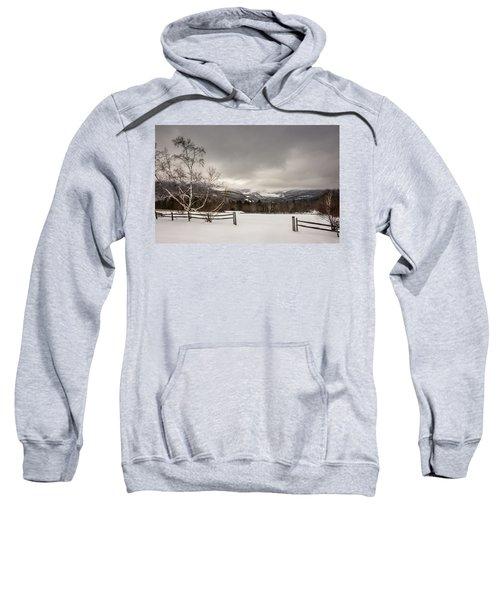 Mountains In Winter Sweatshirt