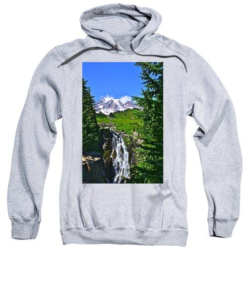 Mt. Rainier From Myrtle Falls Sweatshirt