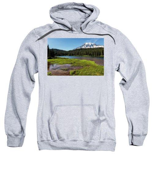 Mt Rainier From Reflection Lake, No. 2 Sweatshirt