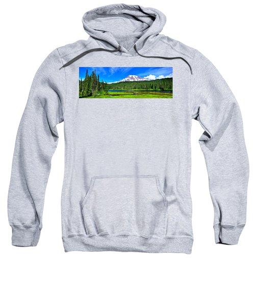 Mt. Rainier From Reflection Lakes Sweatshirt