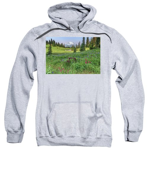 Mt Rainier Meadow Flowers Sweatshirt