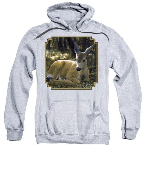 Mule Deer Fawn - A Quiet Place Sweatshirt