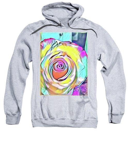 Multi-colored Rose Sweatshirt