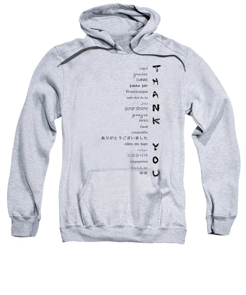 Multilingual Thank You Sweatshirt