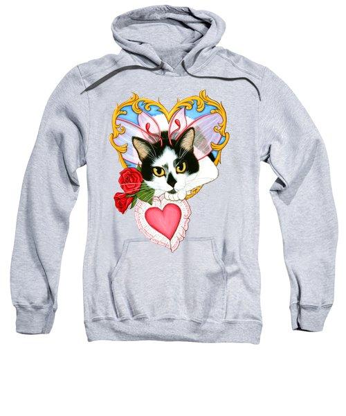 My Feline Valentine Tuxedo Cat Sweatshirt