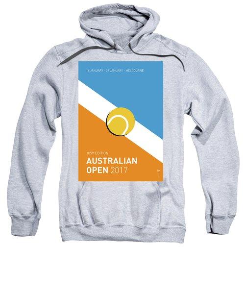 My Grand Slam 01 Australian Open 2017 Minimal Poster Sweatshirt