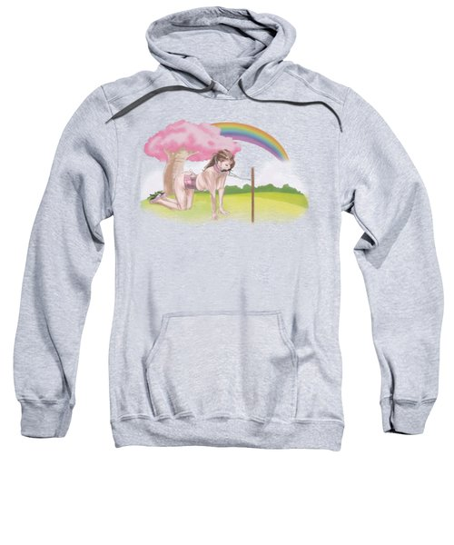 Sweatshirt featuring the mixed media My Little Pony by TortureLord Art