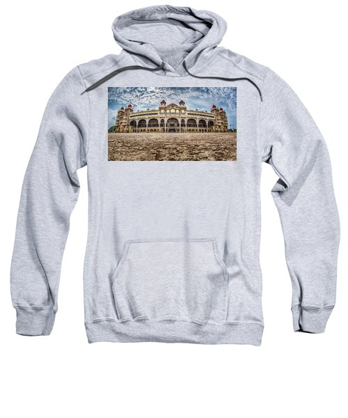 Sweatshirt featuring the photograph Mysore Palace by Chris Cousins