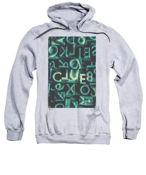 Mystery Writer Clue Sweatshirt