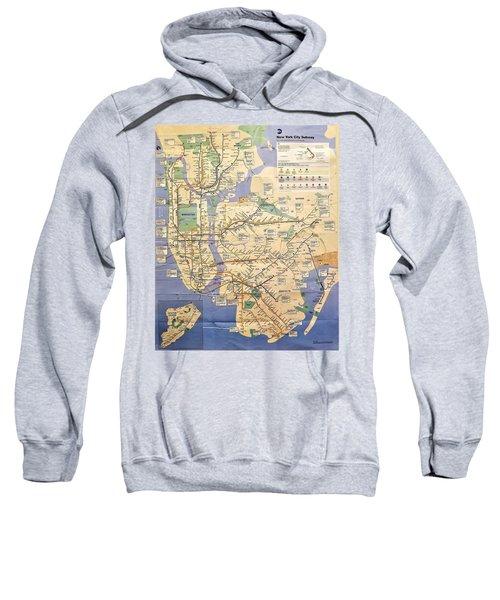 N Y C Subway Map Sweatshirt