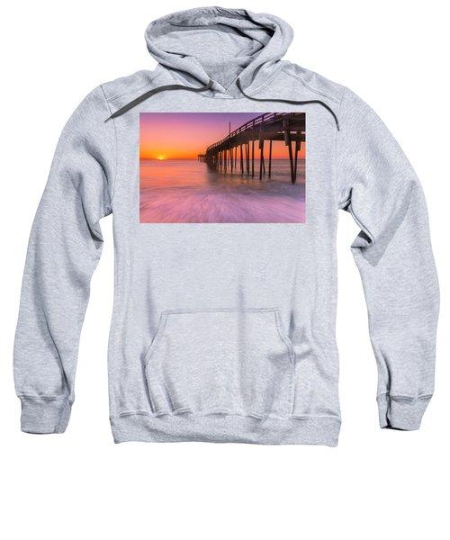 Nags Head Avon Fishing Pier At Sunrise Sweatshirt