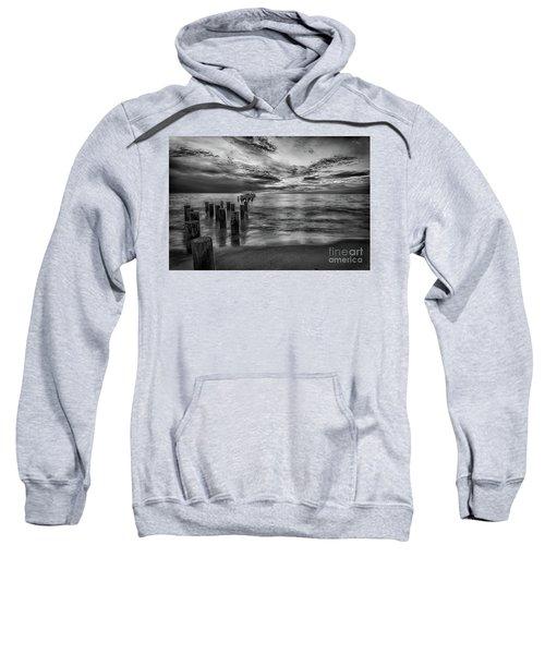Naples Sunset In Black And White Sweatshirt