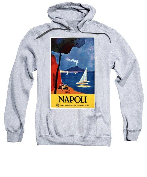 Napoli - Naples, Italy - Beach - Retro Advertising Poster - Vintage Poster Sweatshirt