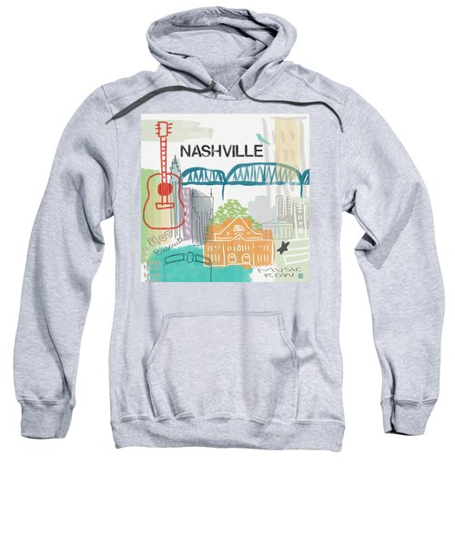 Nashville Cityscape- Art By Linda Woods Sweatshirt