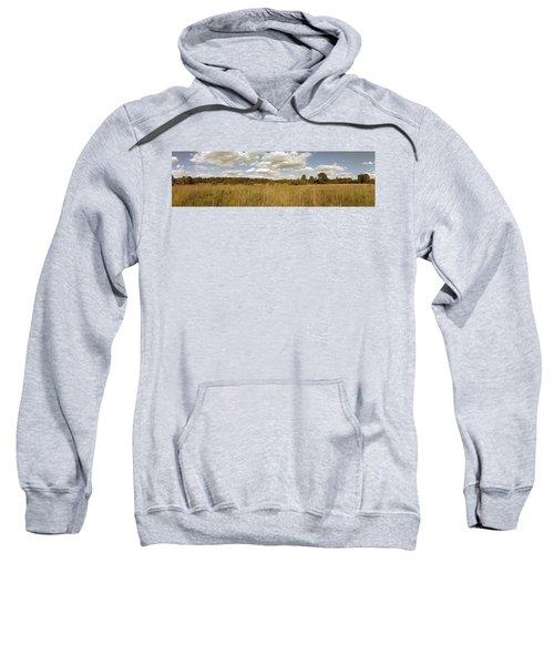 Natural Meadow Landscape Panorama. Sweatshirt