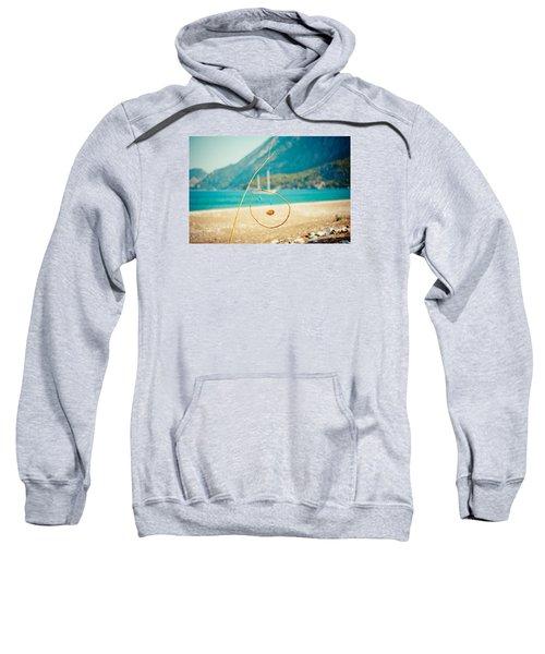 Nature Sculpture At Coast Seascape Artmif.lv Sweatshirt