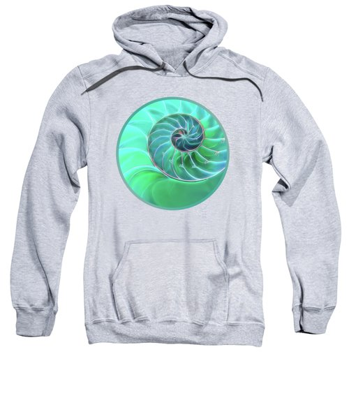 Nautilus Aqua Spiral Sweatshirt