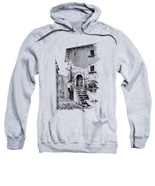 Navelli Dip Pen Sketch  Sweatshirt