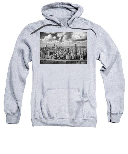 Near North Side And Gold Coast Black And White Sweatshirt by Adam Romanowicz