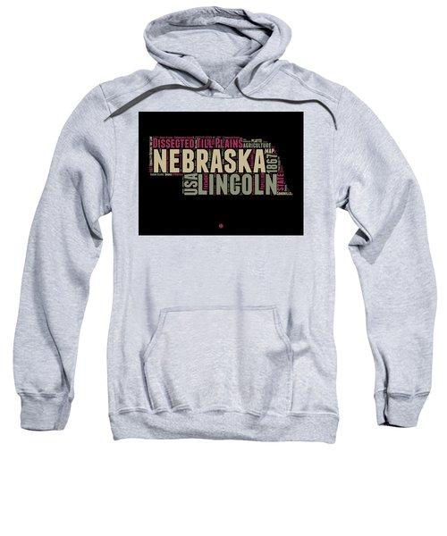 Nebraska Word Cloud 1 Sweatshirt