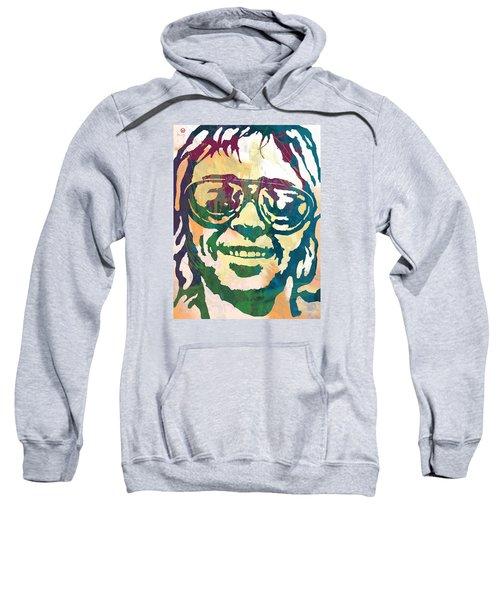 Neil Young Pop Stylised Art Poster Sweatshirt by Kim Wang
