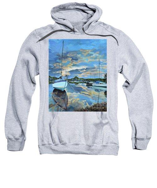 Nestled In For The Night At Mylor Bridge - Cornwall Uk - Sailboat  Sweatshirt