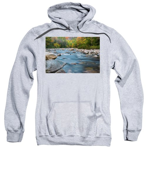 New Hampshire Swift River And Fall Foliage In Autumn Sweatshirt