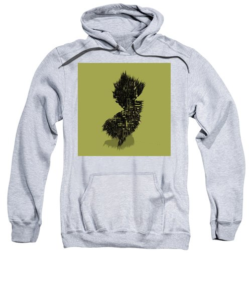 New Jersey Typographic Map 4a Sweatshirt