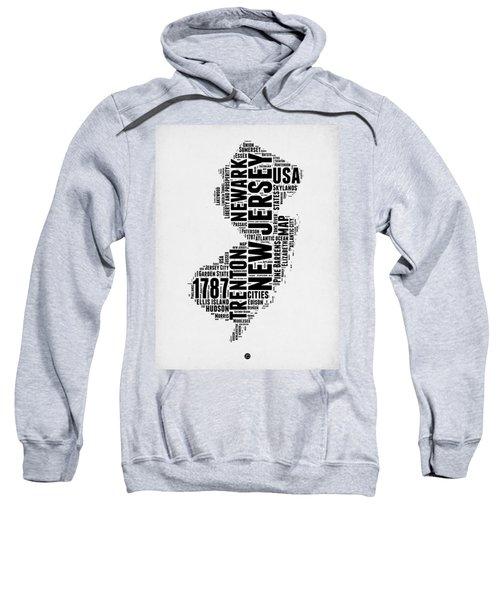 New Jersey Word Cloud 2 Sweatshirt