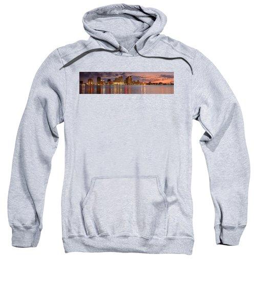 New Orleans Skyline At Dusk Sweatshirt