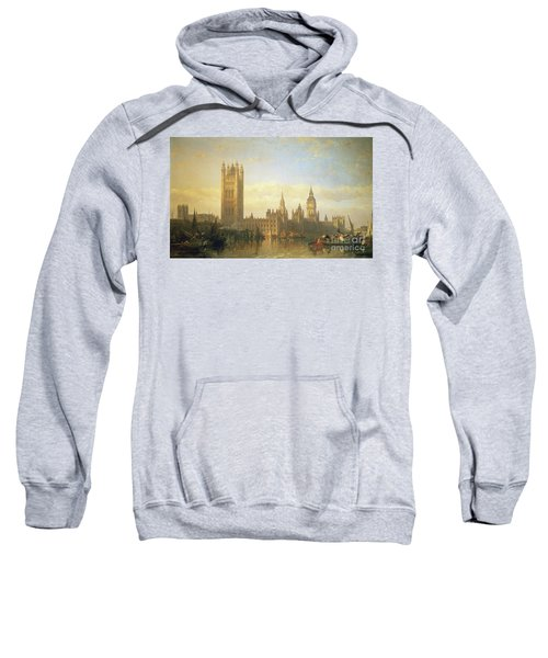 New Palace Of Westminster From The River Thames Sweatshirt