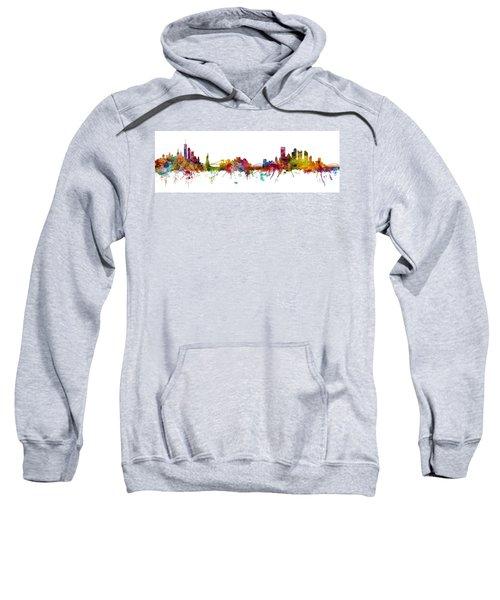 New York And Pittsburgh Skyline Mashup Sweatshirt